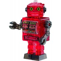 Bepuzzled Original 3D Crystal Jigsaw Puzzle Kit Tin Robot Diy Assembly Brain Teaser Fun Model Toy