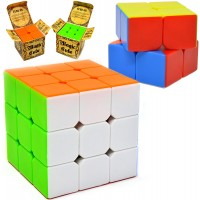 Speed Cube 2 Pack Magic Cube 3X3 2X2 Puzzle Cube Easy Turning Sticker Free Antipop Structure And