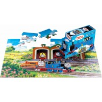 Thomas Friends Off To Work 24 Piece Floor Puzzle In Shaped