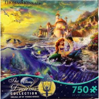 Thomas Kinkade Disney Dreams The Little Mermaid 750 Piece Jigsaw Puzzle 24 X