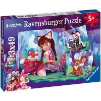 Ravensburger Enchantimals 3 X 49Piece Jigsaw Puzzles Everypiece Is Unique Piece Fit Together