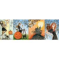 Andrews Blaine Panoramic Halloween Chic Puzzle 1000