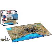 4D Cityscape Seattle Time Puzzle 1100