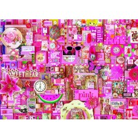 Cobble Hill Pink Jigsaw Puzzle 1000