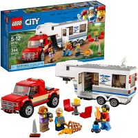 Lego City Pickup Caravan 60182 Building Kit 344 Pieces