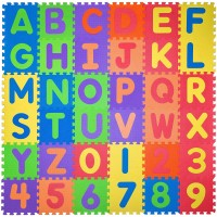 Non Toxic Play Mat Toddlers Foam Puzzles Thickest Alphabet Abc Numbers 09 Play Exercise Mat 36
