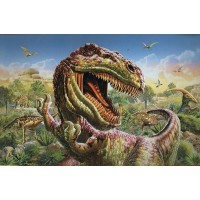Animal Planet Jumbo Trex Dinosaur Floor Puzzle 48 Jumbo