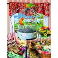 Bird Cage 300 Pc Jigsaw Puzzle By Sunsout