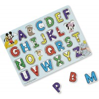 Melissa Doug Disney Classics Alphabet Wooden Peg Puzzle 26
