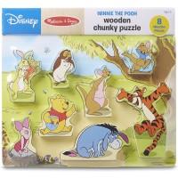 Melissa Doug Disney Winnie The Pooh Wooden Chunky Puzzle 8