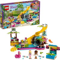 Lego Friends Andreas Pool Party 41374 Toy Pool Building Set With Andrea And Stephanie Mini Dolls