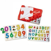 ABC & 123 Puzzle Keepers 2 Peg Puzzles Set