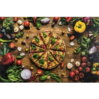 Wooden Jigsaw Puzzles Pizza Fast Food 137 Irregular Pieces Colorful Puzzle For A Real Pizza Lover