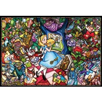 Tenyo Dp027 Disney Stained Glass Alice In Wonderland Jigsaw Puzzle 1000
