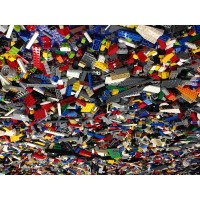Lego 500 Random Small Pieces Of Good Clean Used Bricks And Parts Bulk