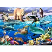 Aquatic Friends Animal Planet 100 pc Puzzle and Booklet