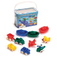 First Vehicles Bucket 10 pc Toddler Playset