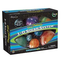 Great Explorations 3-D Solar System Glow In The Dark Ceiling Hanging Kit 3D Planets and Star Stickers Create Milky Way Teach Science STEM Multicolor UG-19862