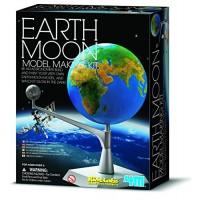4M Kidzlabs Earth & Moon Model Kit STEM Toys Science Lab DIY Orbit Planetarium Educational Gift