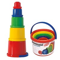 Spielstabil Nesting Stacker - Sturdy 5 Piece Set with Carry Handle Made in Germany