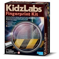 4M KidzLabs Fingerprint Kit - Spy Forensic Science Lab Educational STEM Toys Gift for Kids & Teens Boys Girls
