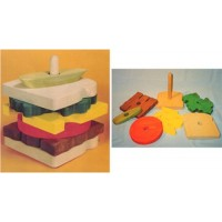 Wooden Educational Stack Toy - Sandwich