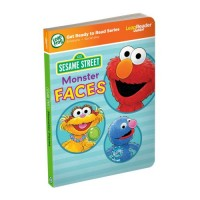 LeapFrog LeapReader Junior Book Sesame Street Monster Faces works with Tag Junior