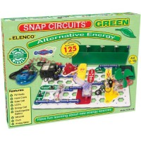 Snap Circuits Green Alternative Energy Electronics Exploration Kit Over 125 STEM Projects Full Color Project Manual 40+ Parts Educational Toys for Kids 8+