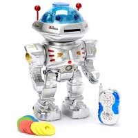 Radio Remote Controlled RC Dancing Robot w R C Missile Disc Launcher by PowerTRC