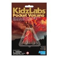 4M Kidzlabs Pocket Volcano DIY Chemistry Geology Lab Experiment - STEM Toys Educational Gift for Kids & Teens Girls Boys