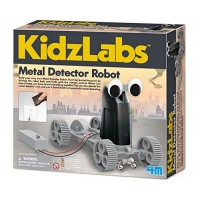 4M Kidzlabs Metal Detector Robot Kit Stem Toys Rc Science Project Educational Gift for Kids Brown A Model 4607