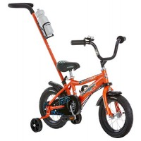 Schwinn Grit Steerable Kids Bikes12-Inch Wheels Quick-Adjust SeatTraining Wheels Push Handle for Easy Steering