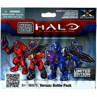 Halo Wars Mega Bloks Item #96975 Versus Battle Back Minifigure Mystery Pack 2