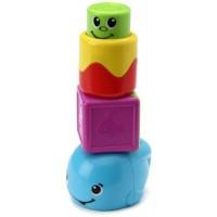 Mattel Fisher-Price Stack 'n Surprise Blocks Peek-a-Boo Whale