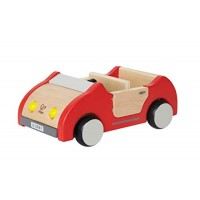 Hape Dollhouse Family Car | Wooden Dolls House Car Toy Push Vehicle Accessory for