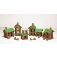 Tumble Tree Timbers Wood Building Set 450 Pieces Build Log Cabins Educational STEM Toy