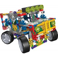 K'NEx 4 Wheel Drive Truck Building Set with Working Lights and Alternate Dune Buggy Design - 313 Pieces