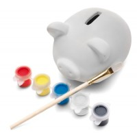 eBuyGB Paint Your Own Ceramic Pottery Piggy Bank Money Box