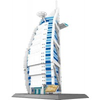 The Burj AL Arab Hotel of Dubai Building Blocks 1307 pcs Huge Gift Box World's Great Architecture Series