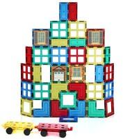 Magnetic Stick N Stack 42 Piece Tiles Accessories Set- 3D Construction Building Blocks Award Winning STEM Educational Set for Kids