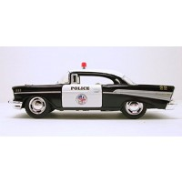 Kinsmart 1957 LAPD Police Chevy Bel Air 1/40 Scale Diecast Squad Car by Kinsmart