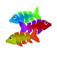 SwimWays Fish Styx Pool Diving Toys - Sinking Fish-Shaped Swim Toys - Pack of