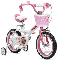 Royalbaby Girls Bike Jenny 16 Inch Girl's Bicycle With Training Wheels Kickstand Basket Child's
