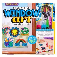 Made By Me Create Your Own Window Art by Horizon Group USA Paint Your Own Suncatchers Kit Includes 12 Pre-Printed Suncatchers + DIY Acetate Sheet Window Paint Suction Cups & More Assorted Colors