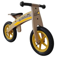 Tour de France Wood Running/Balance Bike 12 inch Wheels Kid's Bike Wood Grain Color