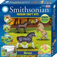 Smithsonian Horses Perfect Cast Museum Paint Display and Learn Craft Kit