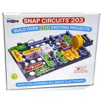 Snap Circuits 203 Electronics Exploration Kit Over 200 STEM Projects 4-Color Project Manual 42 Modules Unlimited Fun