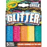 Crayola Outdoor Chalk Glitter Sidewalk Summer Toys 5 Count
