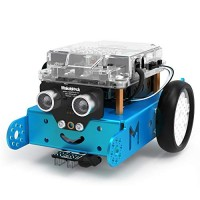 Makeblock mBot Robot Kit DIY Mechanical Building Blocks Entry-level Programming Helps Improve Children' s Logical Thinking and Creativity Skills STEM Education Blue Bluetooth Version Family