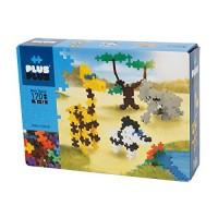 PLUS - Instructed Play Set 170 Piece Safari Construction Building Stem Steam Toy Interlocking Mini Puzzle Blocks for Kids